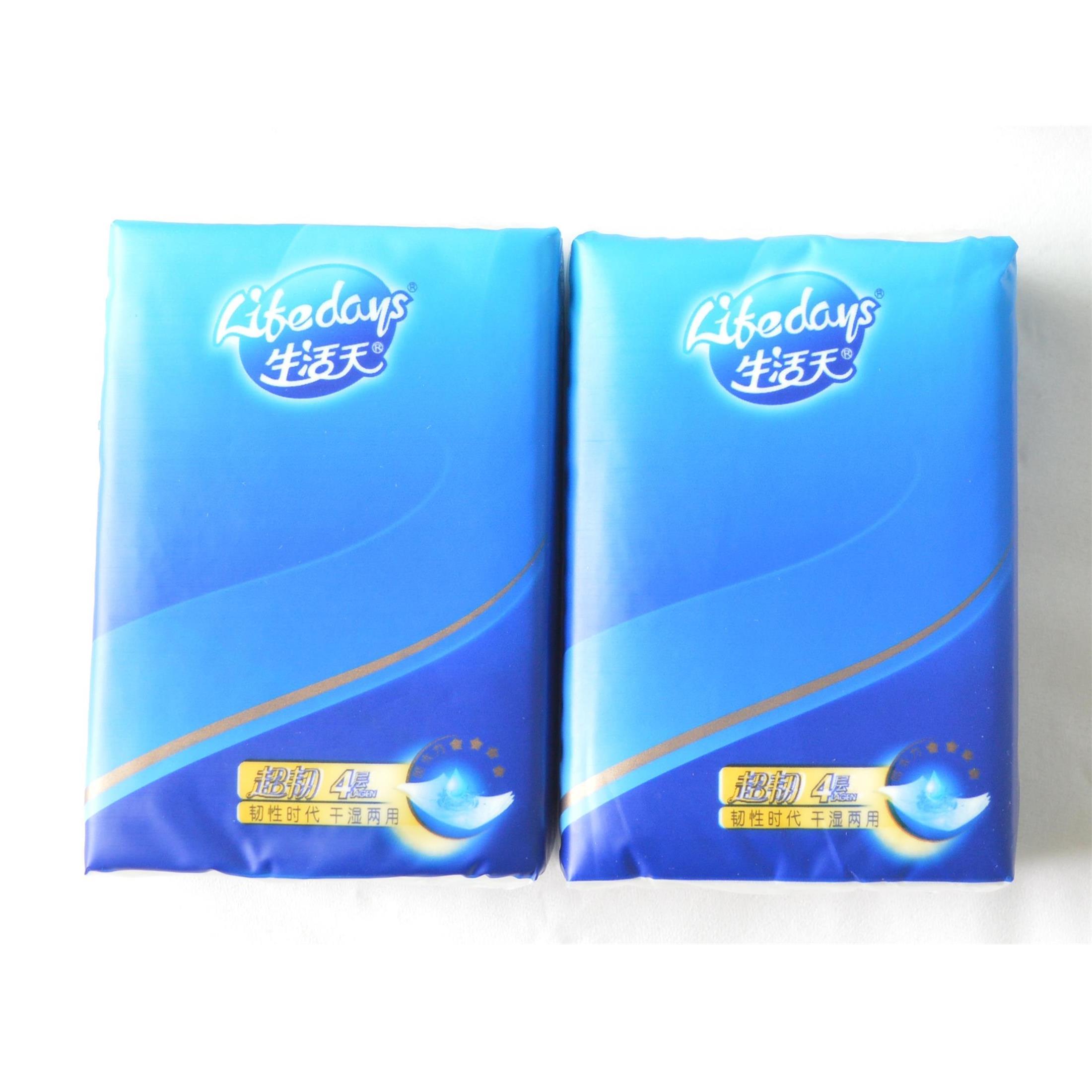 生活天BT305四层8张迷你干湿两用纸手帕(10包)